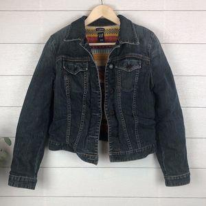 GAP Womens Wool Lined Jean Jacket Medium